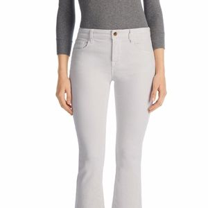 Selena Mid Rise Cropped Bootcut Jean in Moonbeam